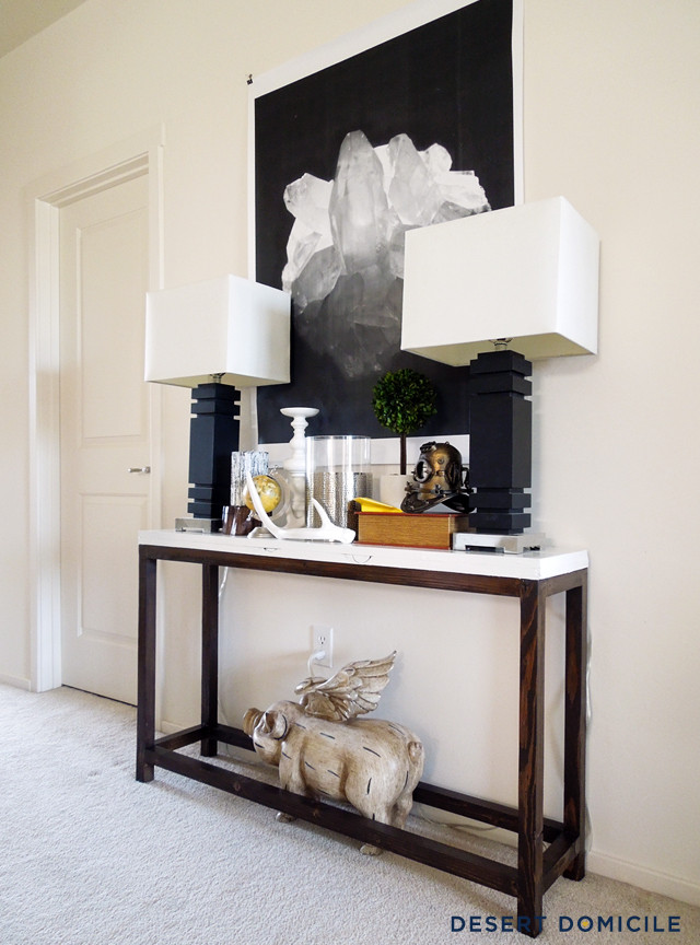 Best ideas about Console Table DIY . Save or Pin DIY $18 Console Table Now.