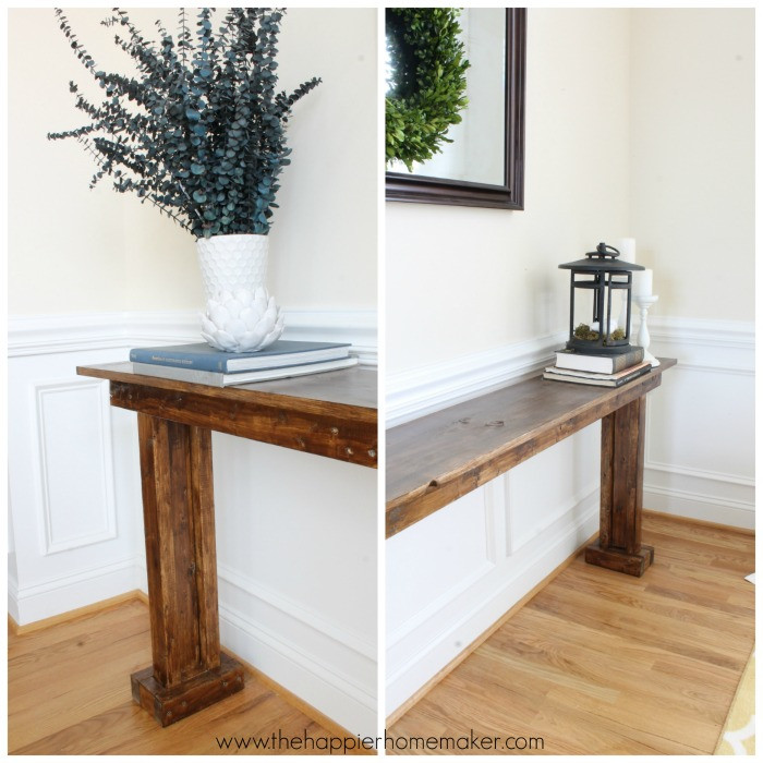 Best ideas about Console Table DIY . Save or Pin DIY Console Table for $20 Now.