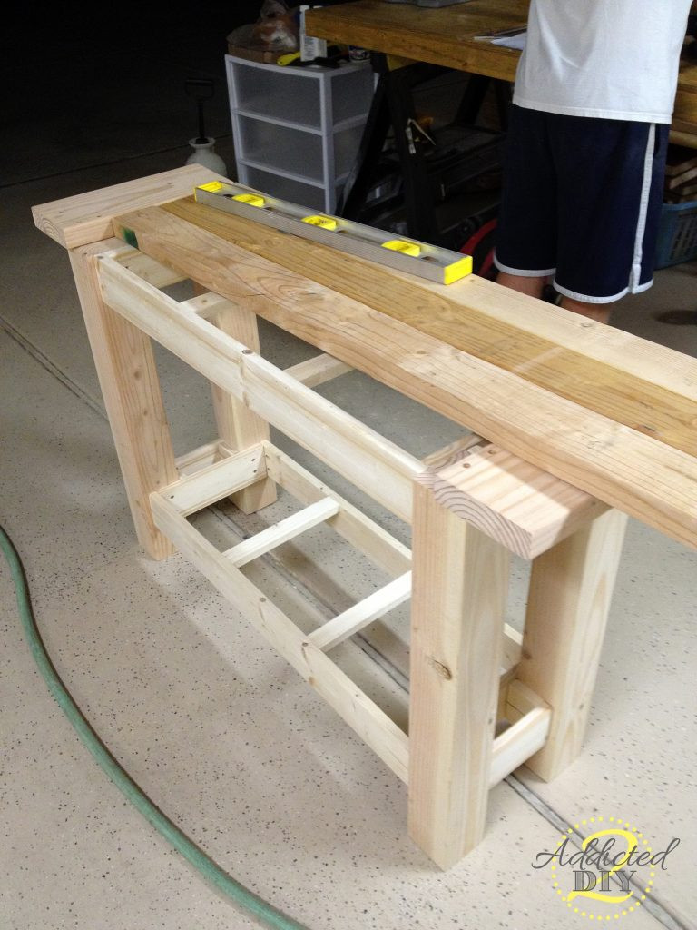 Best ideas about Console Table DIY . Save or Pin Pottery Barn Inspired Console Table Addicted 2 DIY Now.