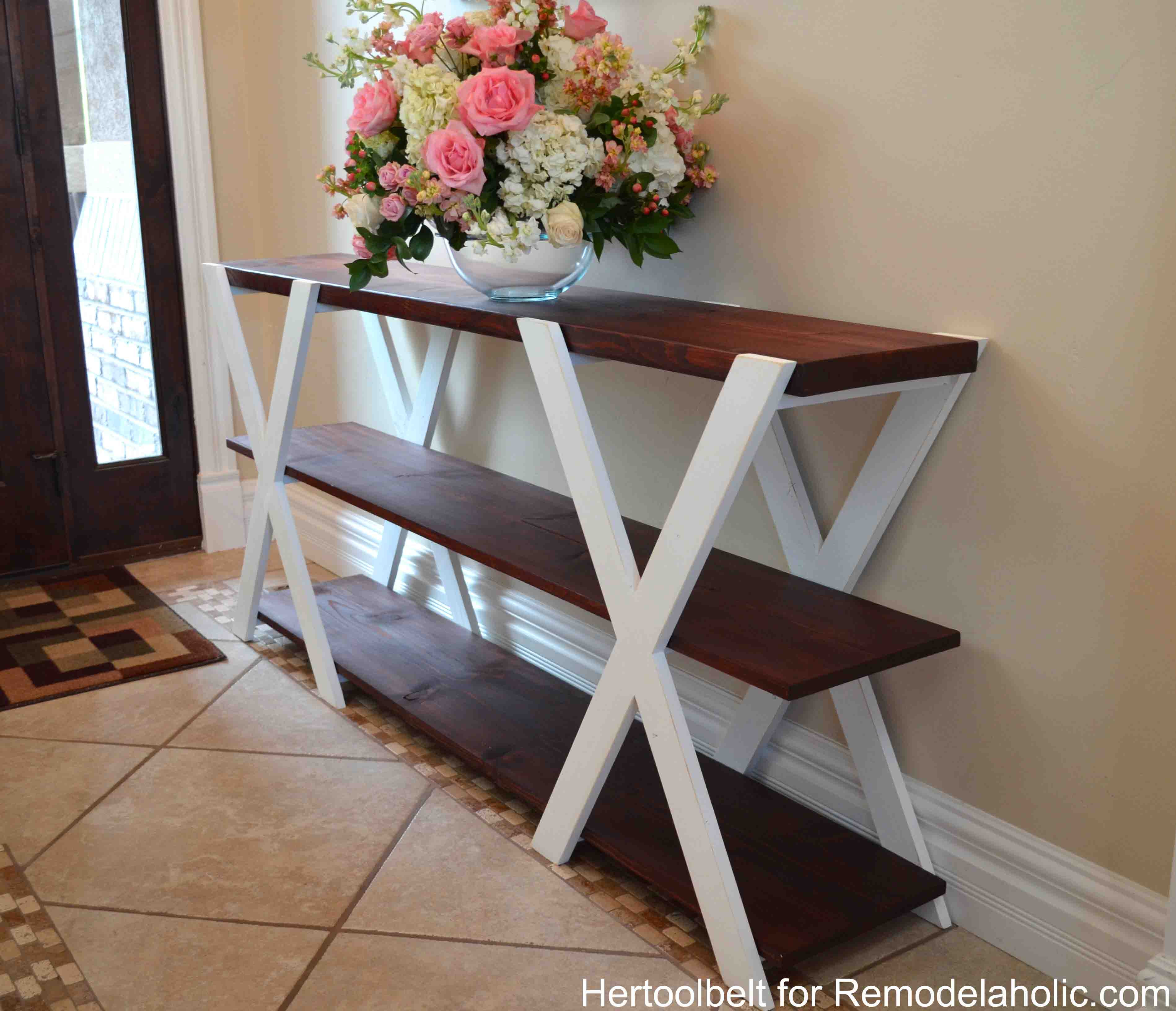 Best ideas about Console Table DIY . Save or Pin Remodelaholic Now.