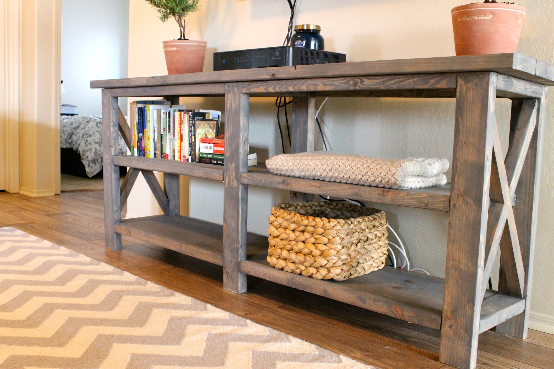 Best ideas about Console Table DIY . Save or Pin DIY X Console Table Now.