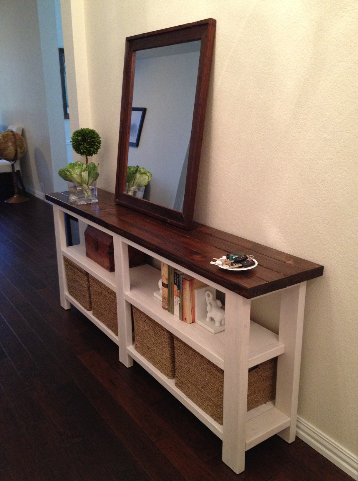 Best ideas about Console Table DIY . Save or Pin Rustic Chic Console Table Now.