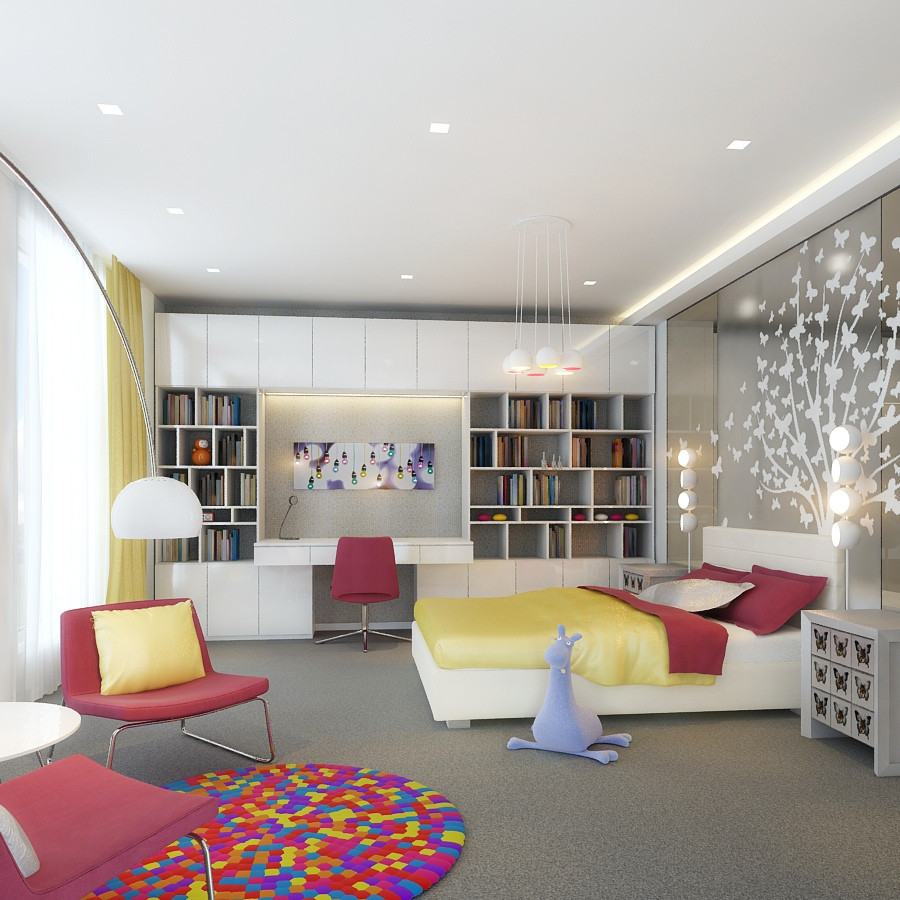 Best ideas about Contemporary Bedroom Ideas . Save or Pin Kids Rooms Climbing Walls and Contemporary Schemes Now.