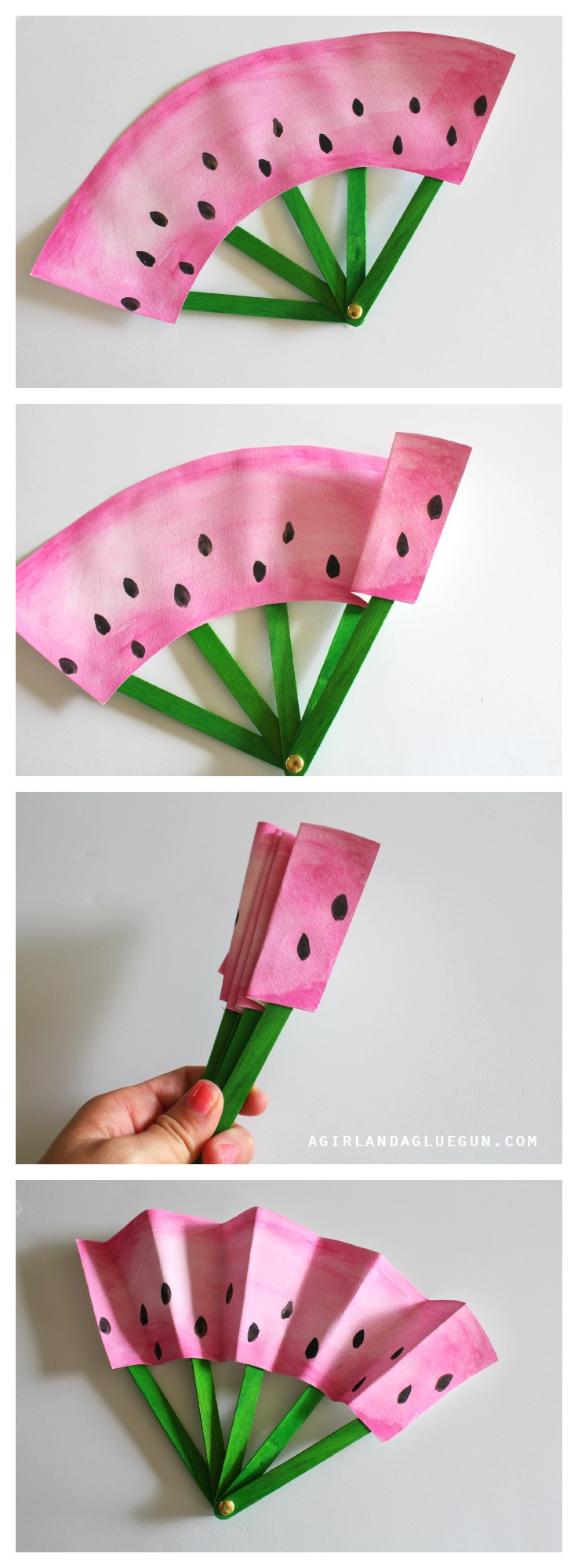 Best ideas about Cool DIY Projects For Kids . Save or Pin DIY Fruit Fans Kids Craft The Idea Room Now.