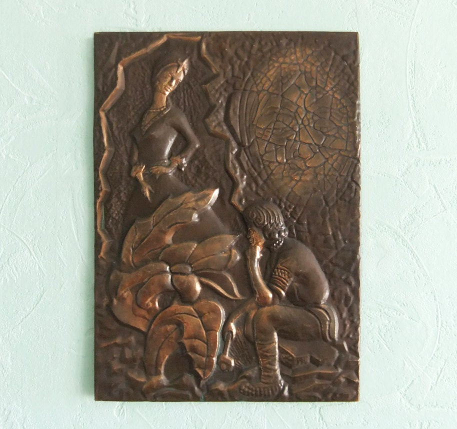 Best ideas about Copper Wall Art . Save or Pin Vintage Decorative Picture Copper Wall Decor Wall by Now.