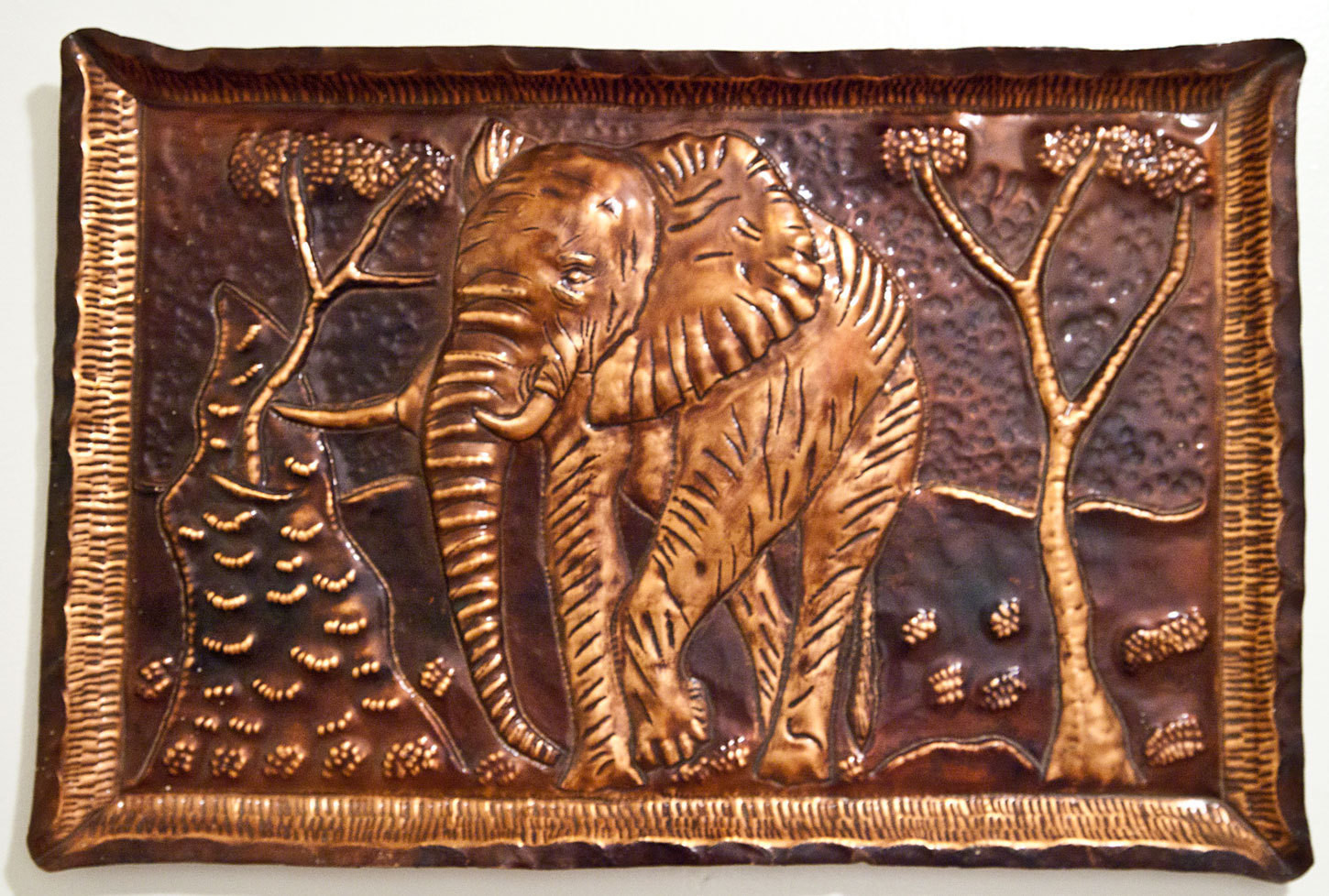 Best ideas about Copper Wall Art . Save or Pin African Elephant Hammered Copper Wall Art Now.