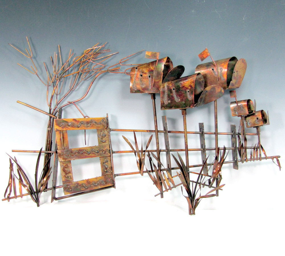 Best ideas about Copper Wall Art . Save or Pin Vintage COPPER Wall Art Sculpture Beach ers 1974 Beach Scene Now.