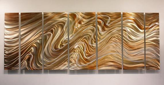 Best ideas about Copper Wall Art . Save or Pin Copper & Silver Abstract Metal Wall Art Handmade Metal Now.
