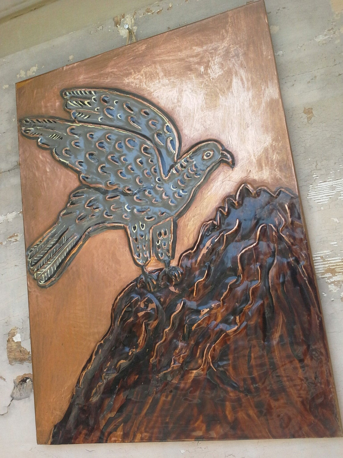 Best ideas about Copper Wall Art . Save or Pin Bird Copper Wall Art Copper Wall Decor Copper by CretanPast Now.