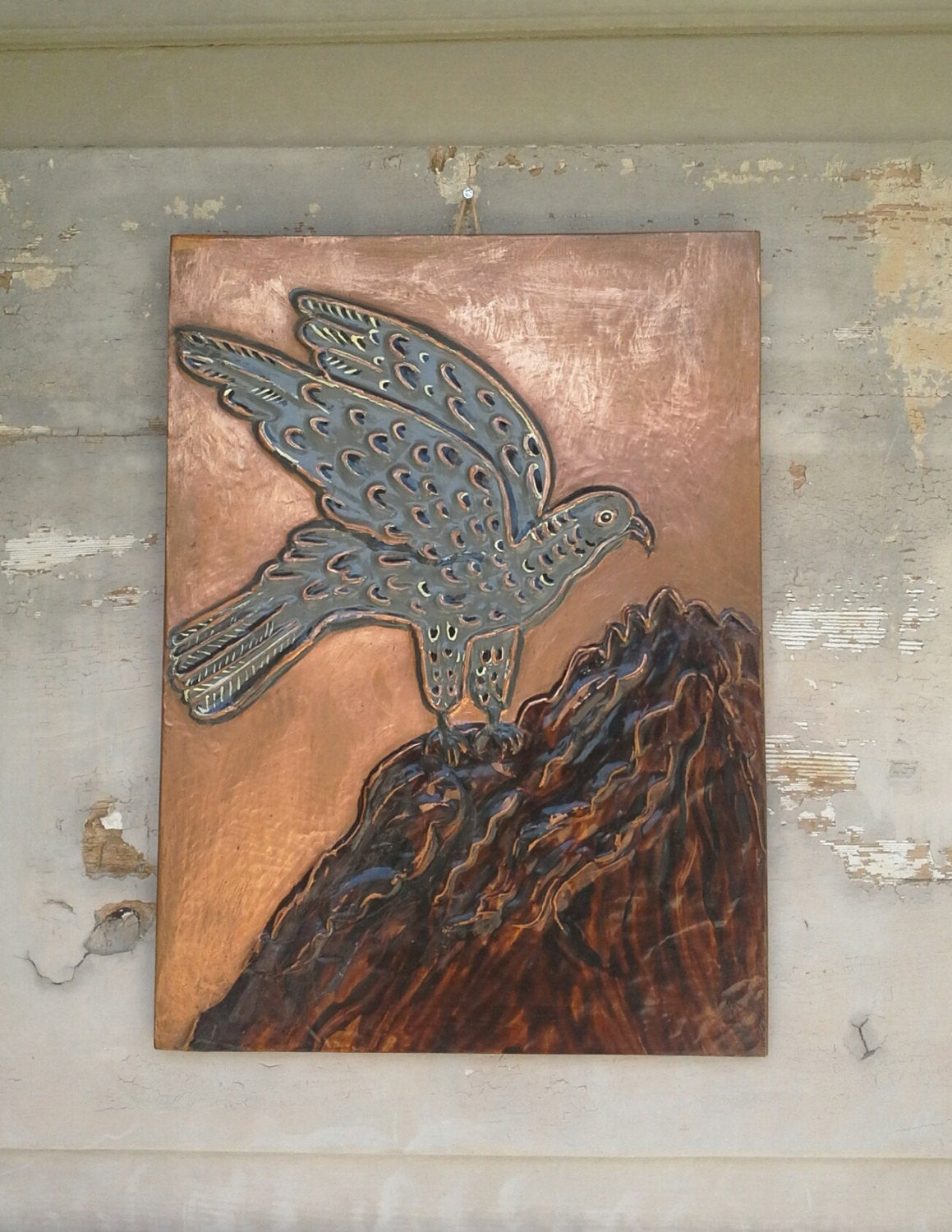 Best ideas about Copper Wall Art . Save or Pin Bird Copper Wall Art Copper Wall Decor Copper Repoussed Now.