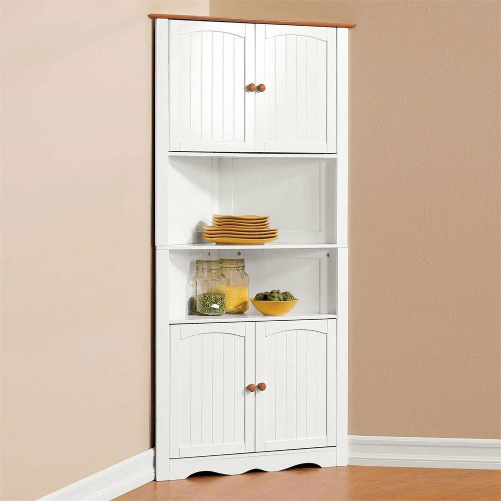 Best ideas about Corner Pantry Cabinet . Save or Pin Corner Cabinet Pantry Cupboard Home Kitchen Dining Wine Now.