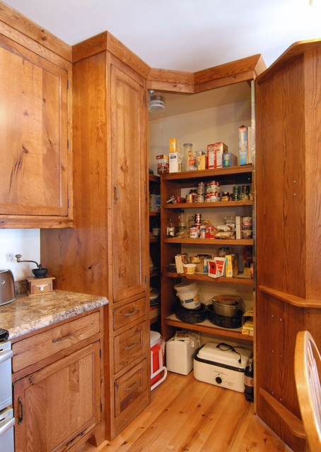 Best ideas about Corner Pantry Cabinet . Save or Pin corner pantry Traditional Kitchen by Crossroads Now.