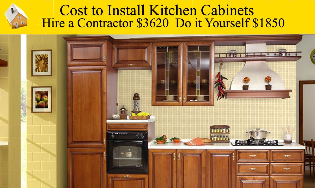 Best ideas about Cost To Install Kitchen Cabinets . Save or Pin Cost to Install Kitchen Cabinets Now.