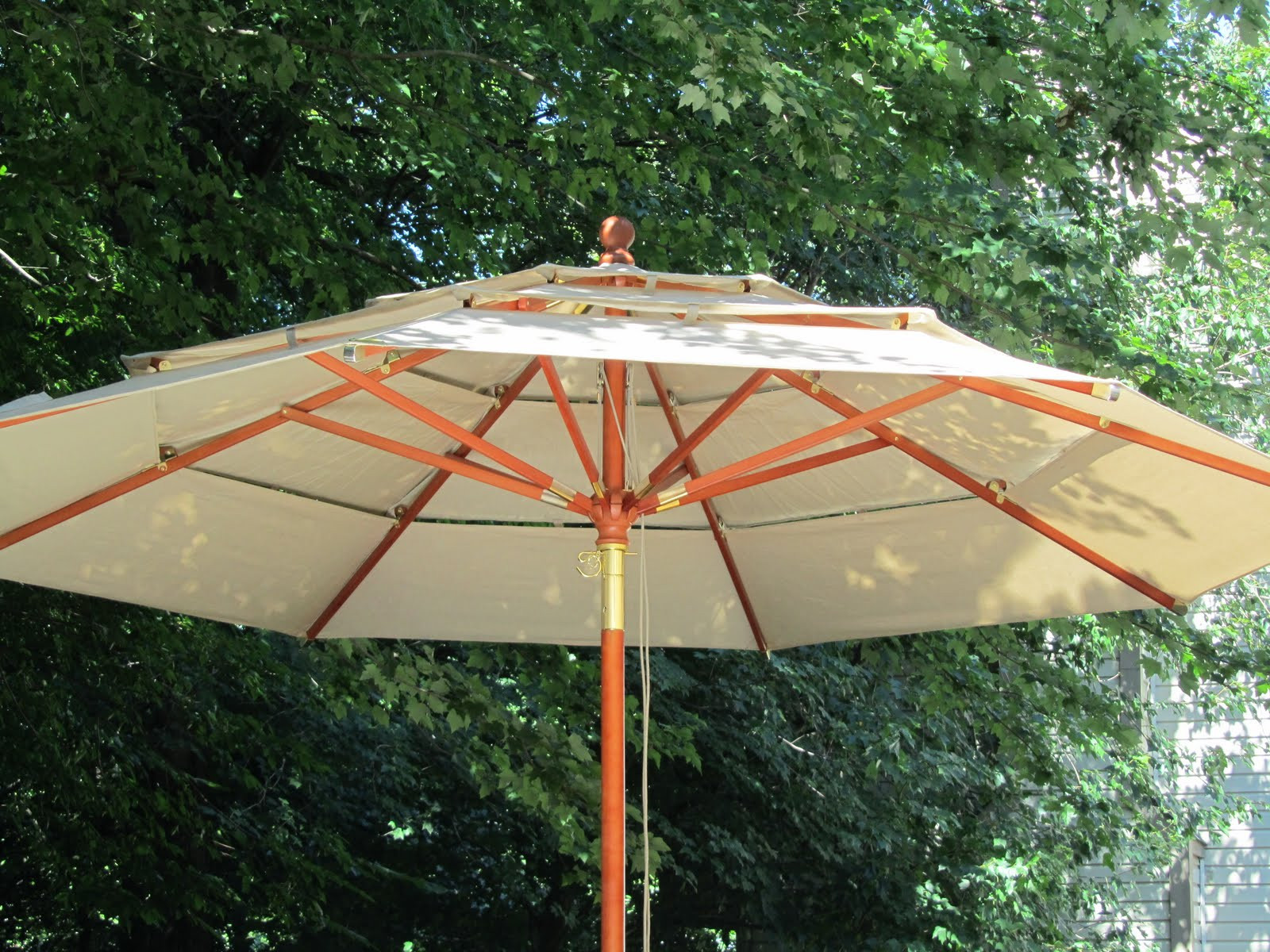 Best ideas about Costco Patio Umbrella . Save or Pin Acanthus and Acorn Outdoor Room Bud Version Now.