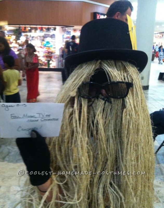 Best ideas about Cousin It Costume DIY . Save or Pin Coolest Homemade Cousin It Child Costume Now.