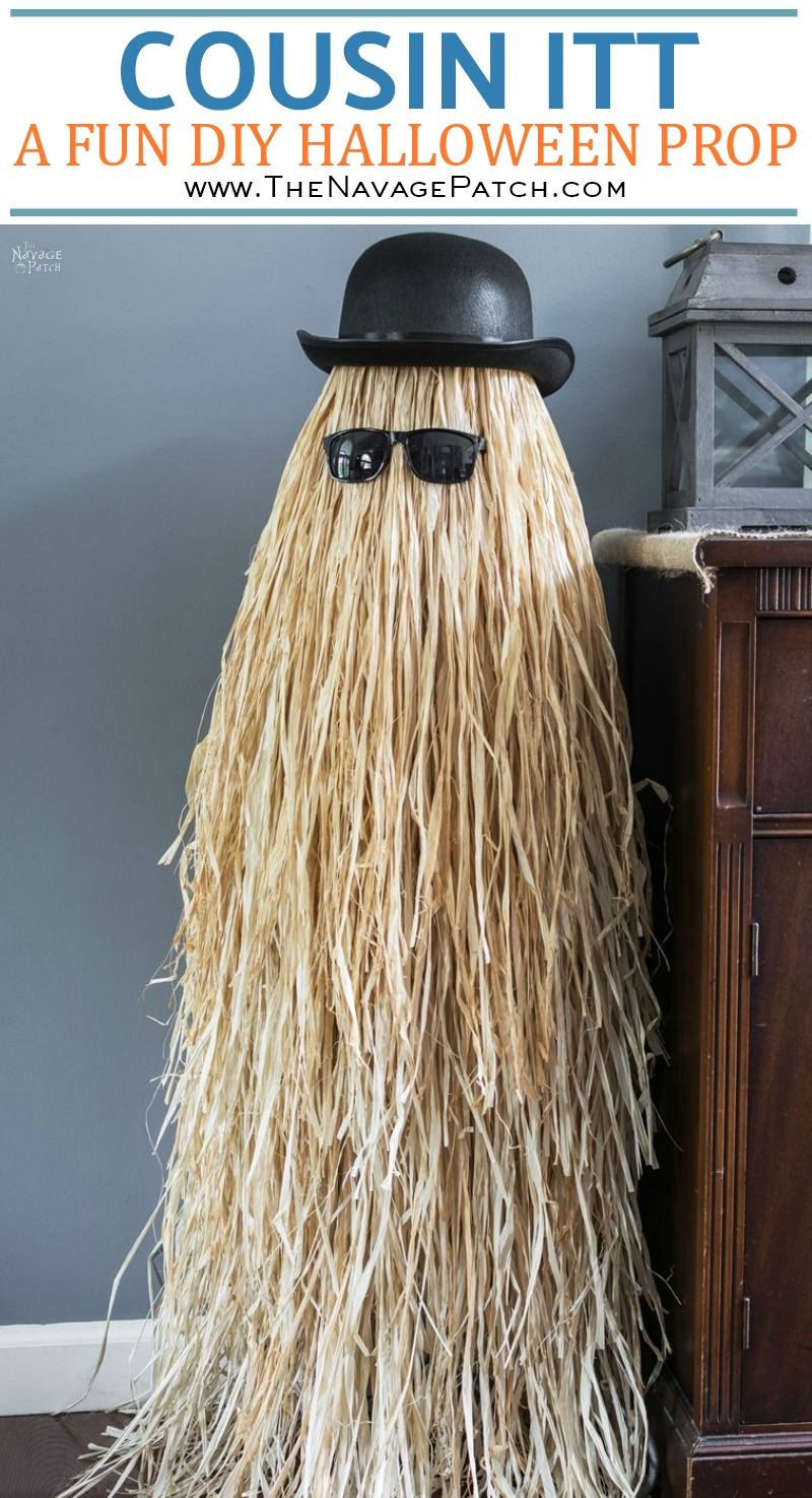 Best ideas about Cousin It Costume DIY . Save or Pin Cousin Itt Halloween Prop Tutorial The Navage Patch Now.