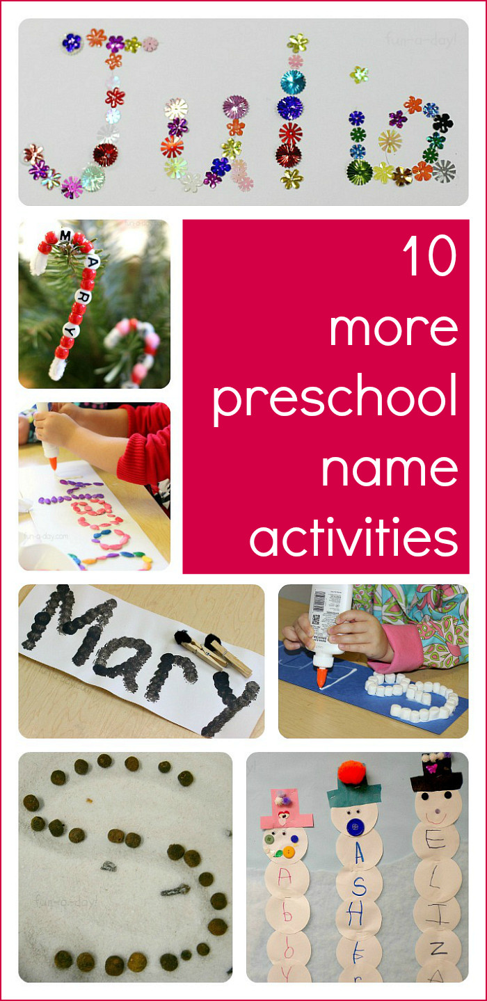Best ideas about Craft Activities For Preschoolers . Save or Pin 10 More Preschool Name Activities to Try Now.