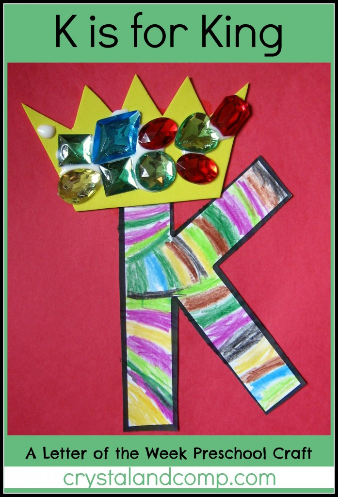 Best ideas about Craft Activities For Preschoolers . Save or Pin Alphabet Activities for Preschoolers K is for King Now.