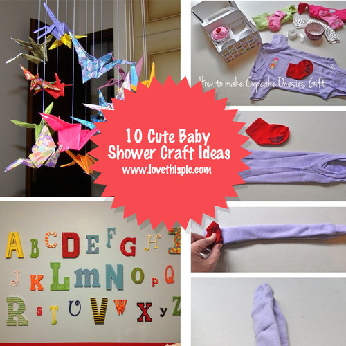 Best ideas about Craft Ideas For Baby Shower Gifts . Save or Pin 10 Cute Baby Shower Craft Ideas Now.