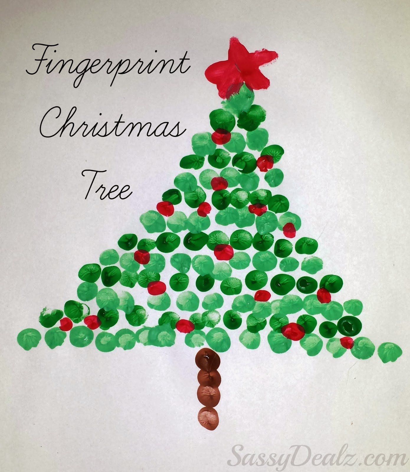 Best ideas about Craft Ideas For Christmas . Save or Pin Christmas Fingerprint Crafts U Create Now.