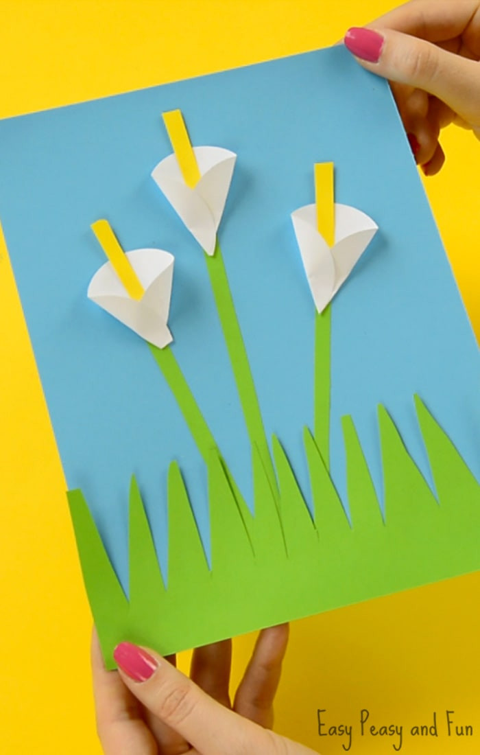 Best ideas about Craft Ideas For Kids With Paper . Save or Pin Calla Lily Paper Craft Flower Craft Ideas Easy Peasy Now.