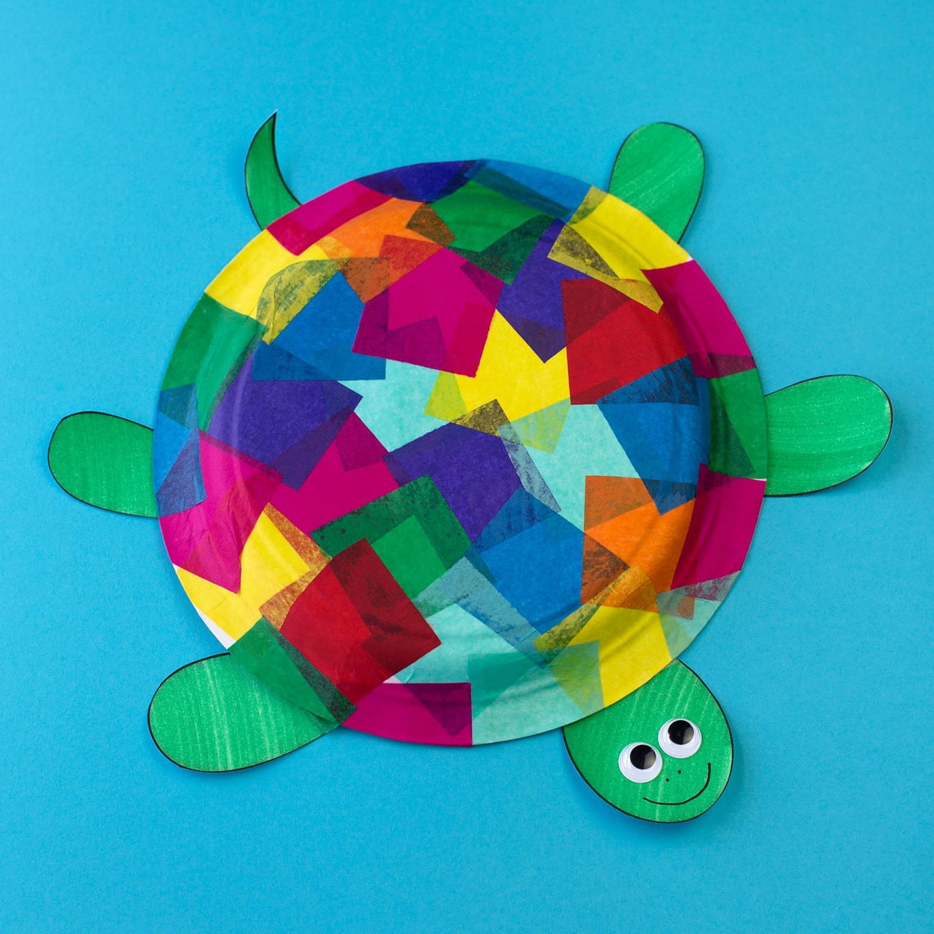 Best ideas about Craft Ideas For Kids With Paper . Save or Pin Tissue Paper and Paper Plate Turtle Craft Now.