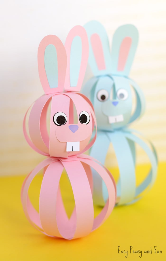 Best ideas about Craft Ideas For Kids With Paper . Save or Pin Easy Paper Bunny Craft Easter Idea for Kids Easy Peasy Now.