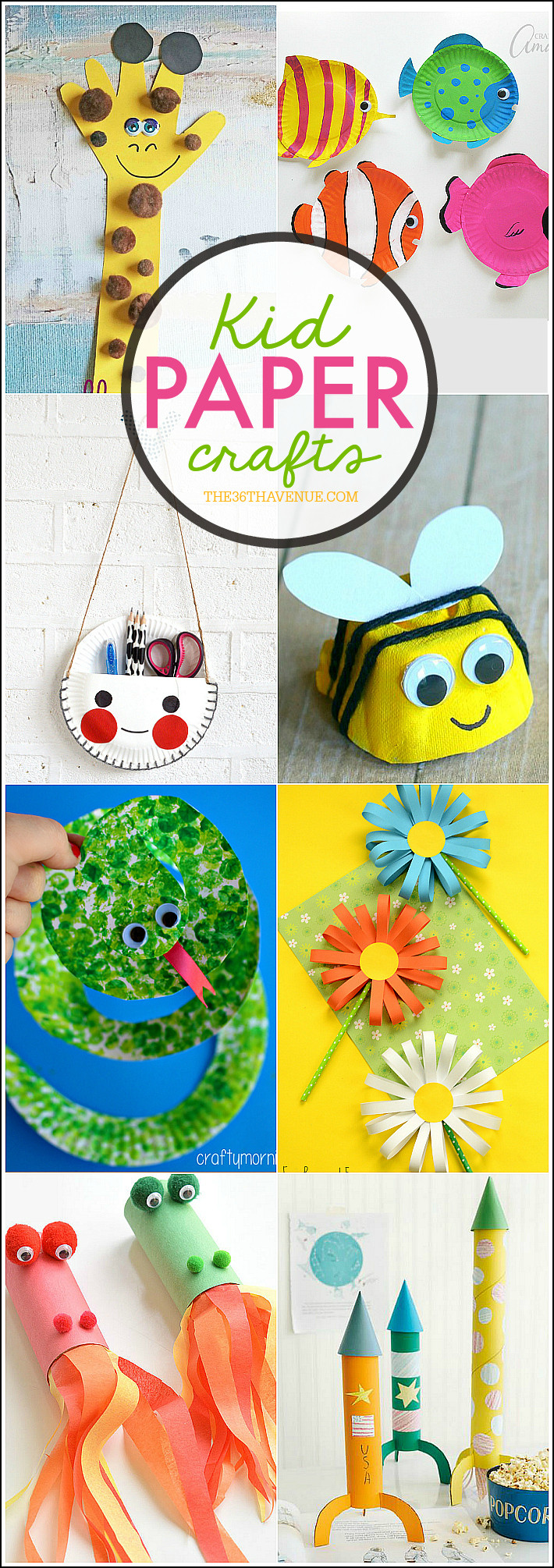 Best ideas about Craft Ideas Kids . Save or Pin Kid Paper Crafts The 36th AVENUE Now.