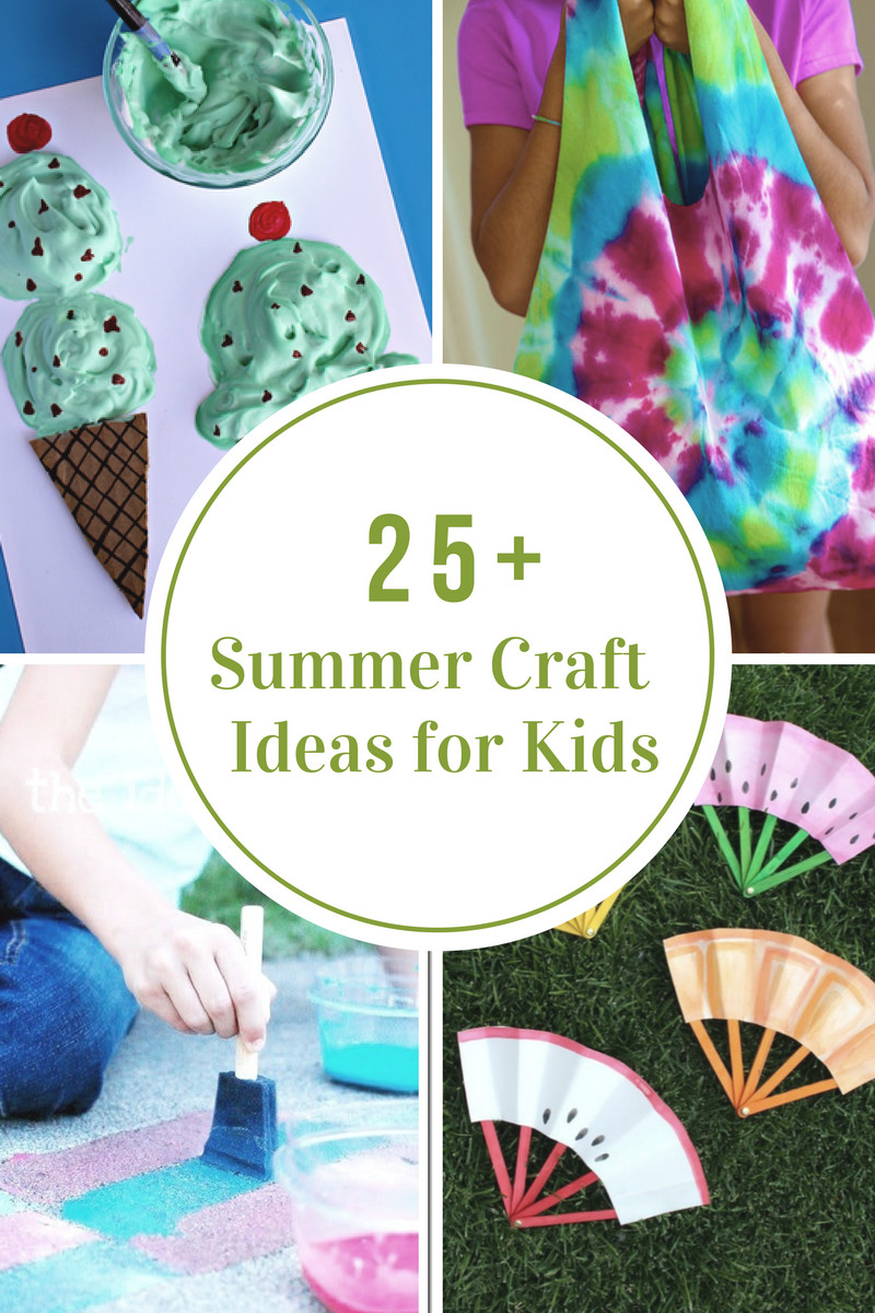 Best ideas about Craft Ideas Kids . Save or Pin 40 Creative Summer Crafts for Kids That Are Really Fun Now.