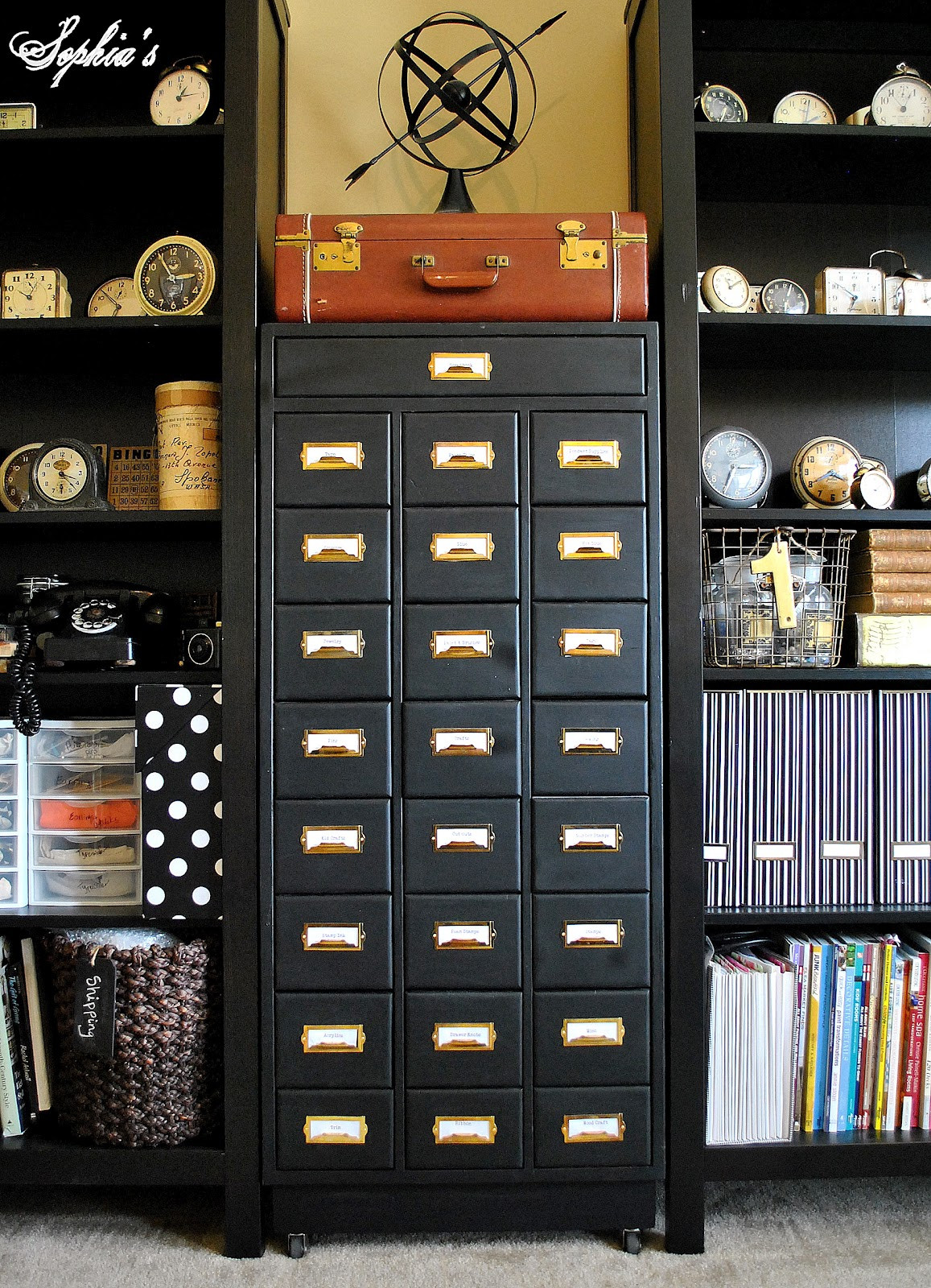 Best ideas about Craft Storage Cabinets . Save or Pin Sophia s Organized Craft Cabinet Now.