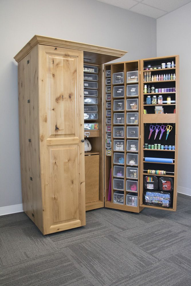 Best ideas about Craft Storage Cabinets . Save or Pin 25 best ideas about Hobby Room on Pinterest Now.