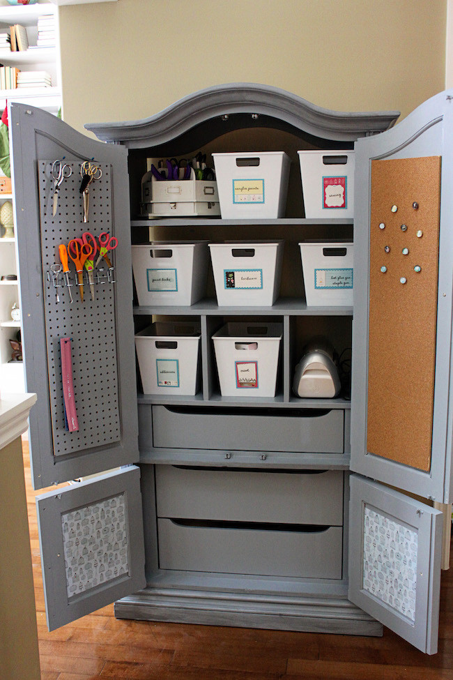 Best ideas about Craft Storage Cabinets . Save or Pin 15 Creative Ways to Repurpose an Old Antique Armoire Now.