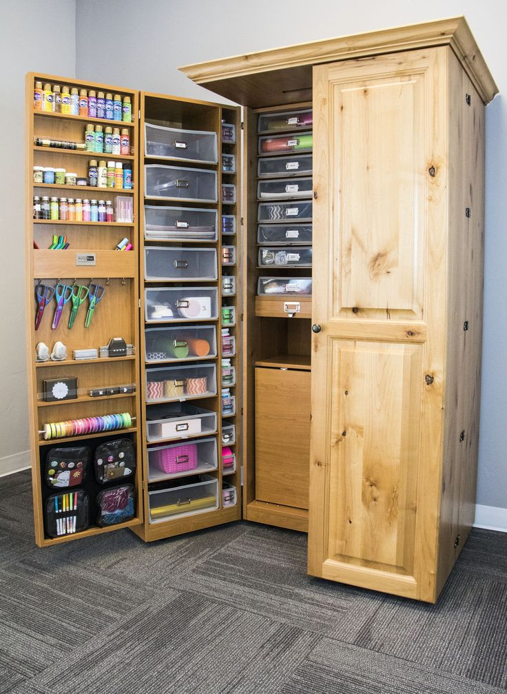 Best ideas about Craft Storage Cabinets . Save or Pin 17 Best ideas about Craft Armoire on Pinterest Now.