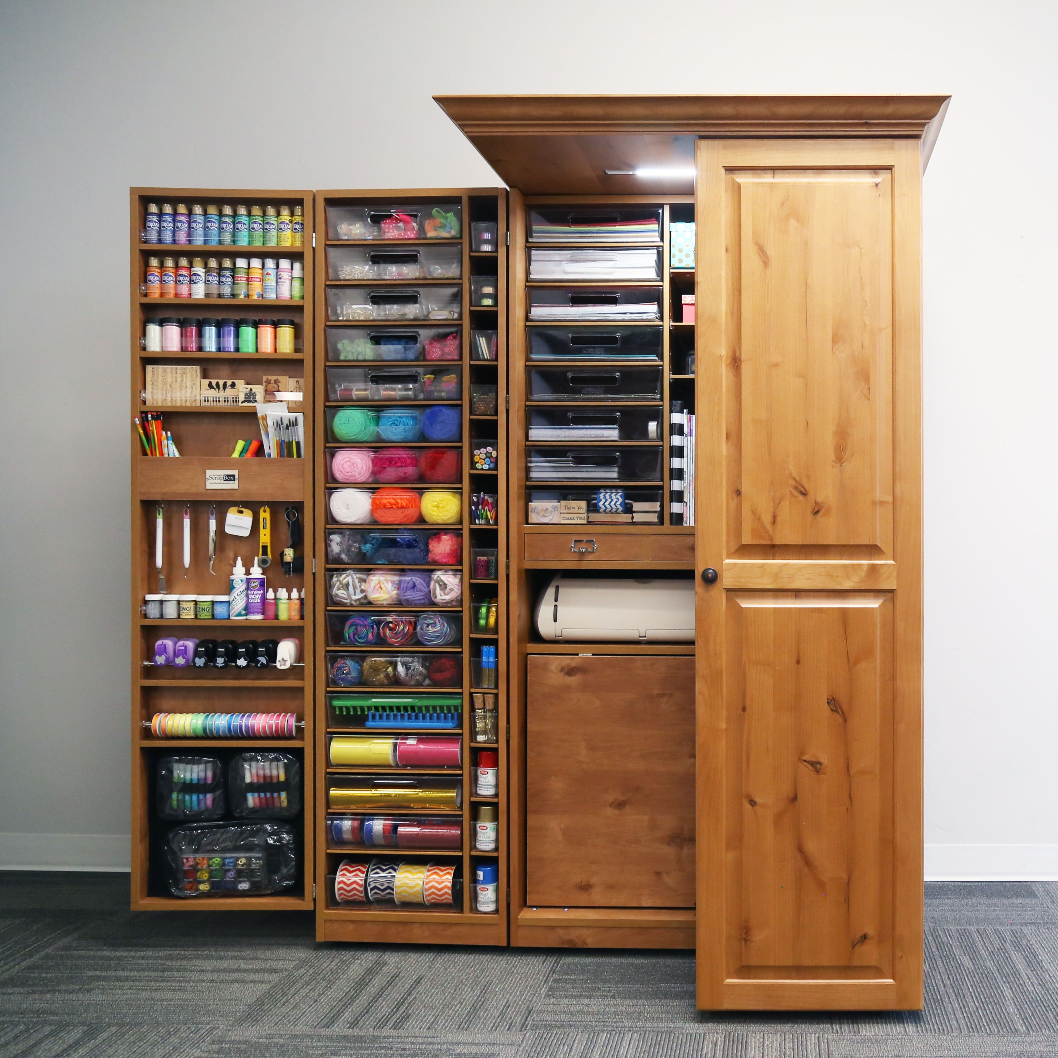 Best ideas about Craft Storage Cabinets . Save or Pin Looking for craft storage options Now.