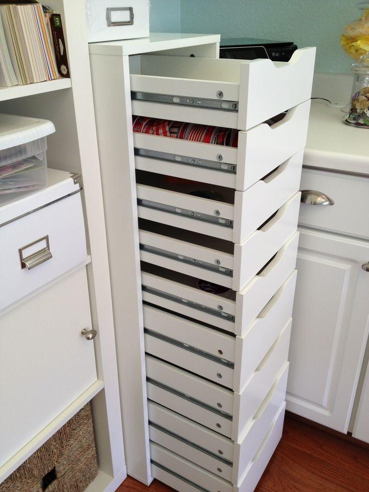 Best ideas about Craft Storage Cabinets . Save or Pin Nice Ikea Craft Room Storage 5 IKEA Alex Storage Now.