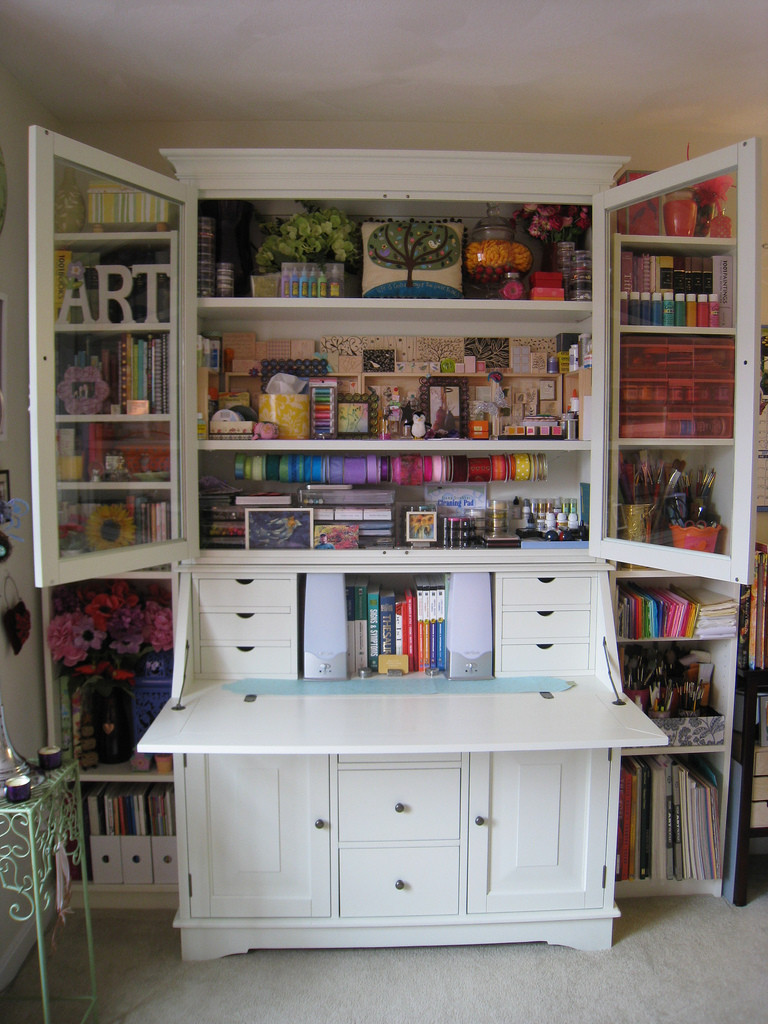 Best ideas about Craft Storage Cabinets . Save or Pin Secretary Desks – The Tallest Heaviest And Most Imposing Now.