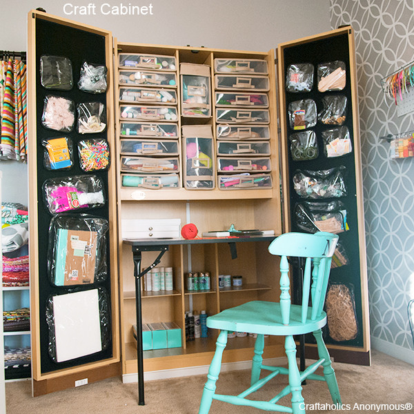 Best ideas about Craft Storage Cabinets . Save or Pin Craftaholics Anonymous Now.