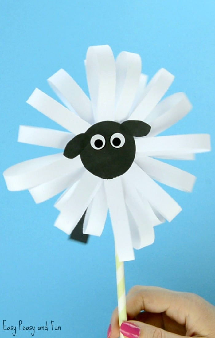 Best ideas about Crafting For Kids . Save or Pin Paper Sheep Craft Easy Peasy and Fun Now.