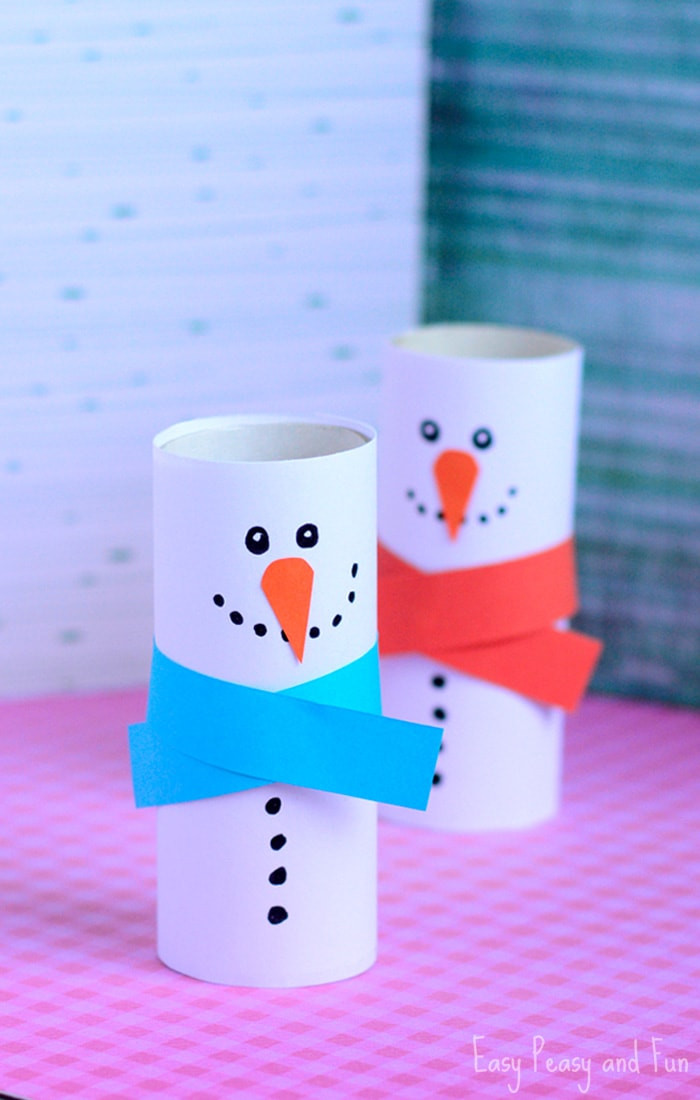 Best ideas about Crafting For Kids . Save or Pin Paper Roll Snowman Craft Winter Crafts for Kids Easy Now.