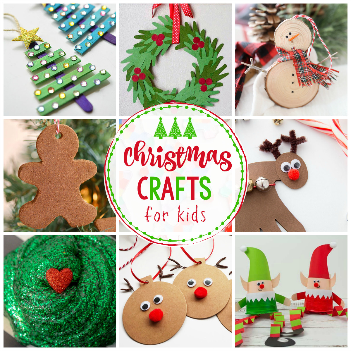 Best ideas about Crafting Ideas For Kids . Save or Pin 25 Easy Christmas Crafts for Kids Crazy Little Projects Now.