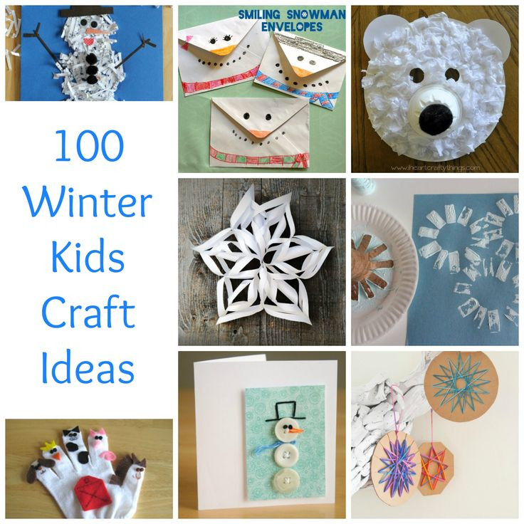 Best ideas about Crafting Ideas For Kids . Save or Pin 100 Winter Kids Crafts to Beat the Winter Blues Now.