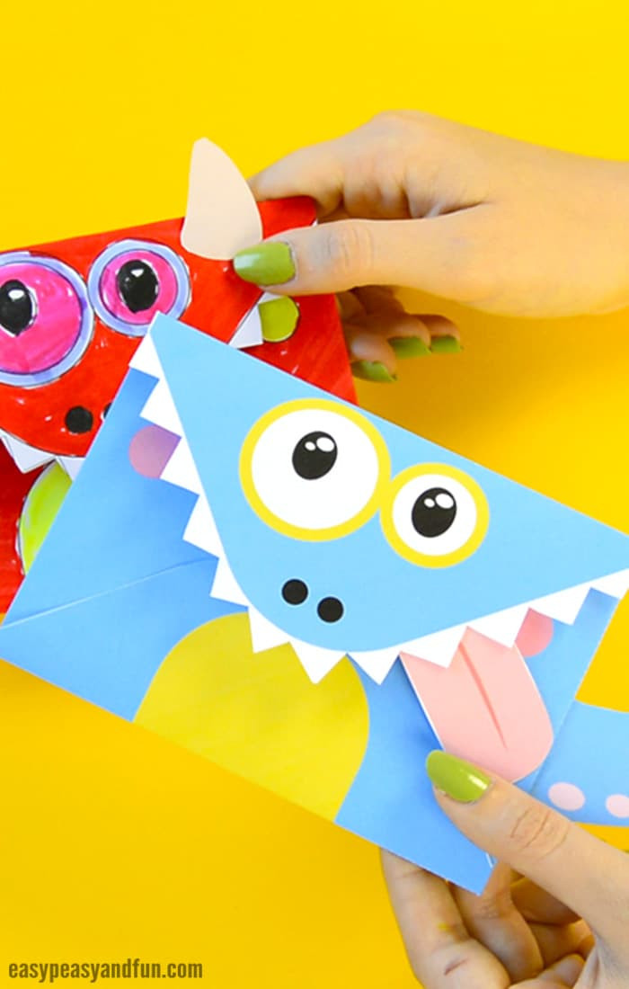 Best ideas about Crafts Fir Kids . Save or Pin Printable Monster Envelopes Easy Peasy and Fun Now.