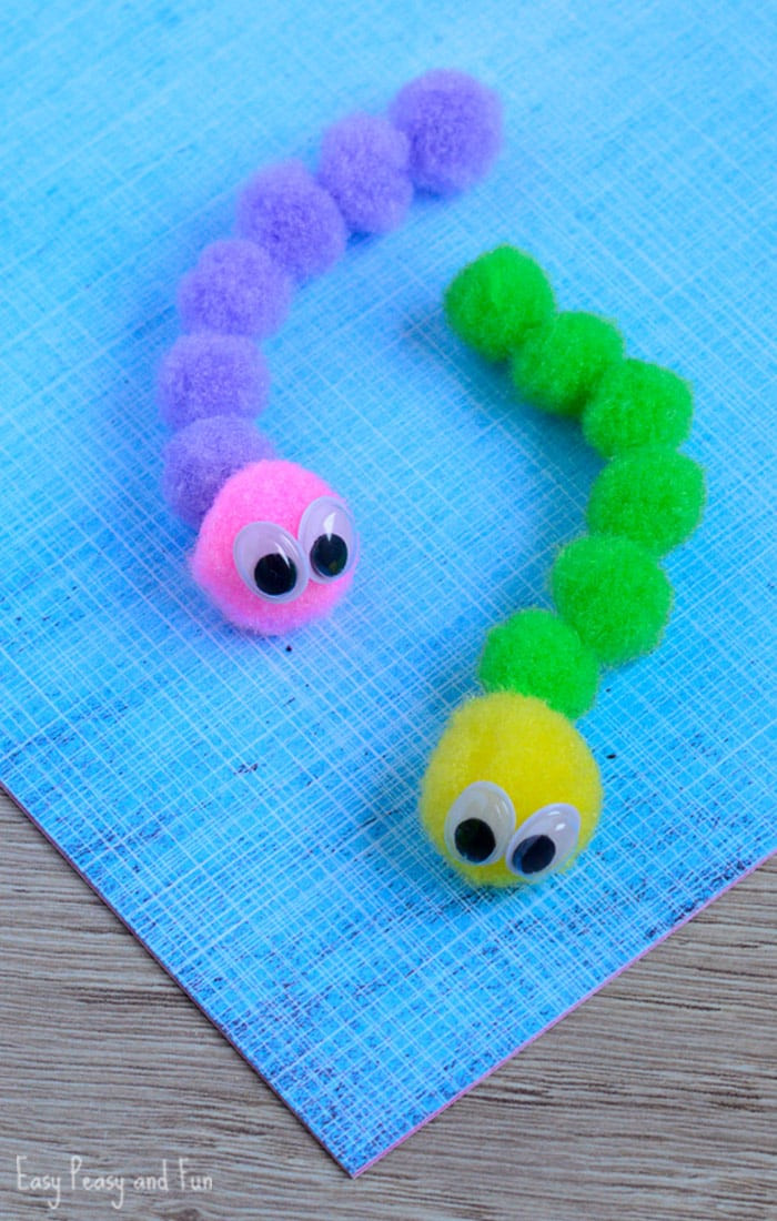 Best ideas about Crafts For Kids . Save or Pin Pom Pom Caterpillar Craft Easy Peasy and Fun Now.
