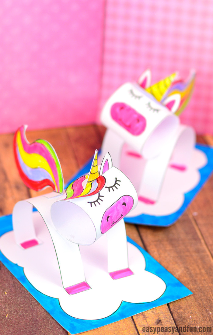 Best ideas about Crafts For Kids . Save or Pin 3D Construction Paper Unicorn Craft Printable Template Now.