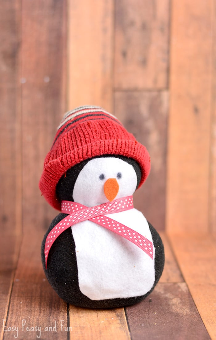 Best ideas about Crafts For Kids . Save or Pin No Sew Sock Penguin Craft Easy Peasy and Fun Now.