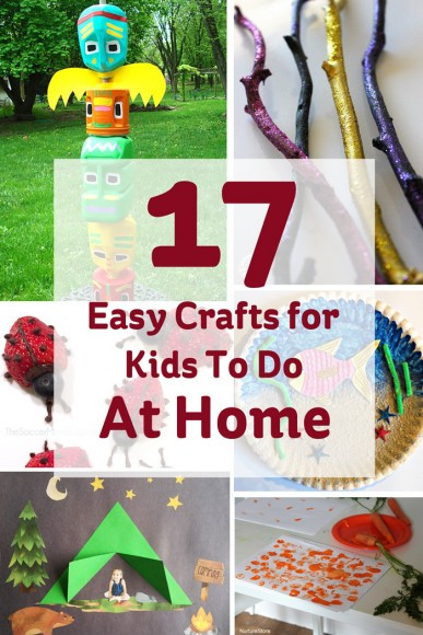 Best ideas about Crafts For Kids To Do At Home . Save or Pin 17 Easy Crafts for Kids to do at Home Hobbycraft Blog Now.