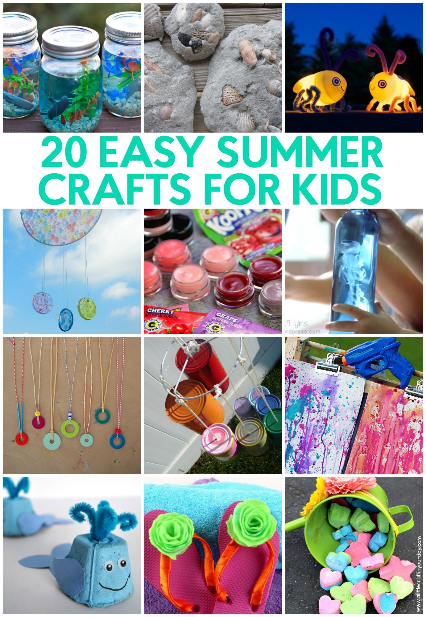 Best ideas about Crafts For Little Kids . Save or Pin 20 Easy Summer Crafts for Kids A Little Craft In Your Day Now.