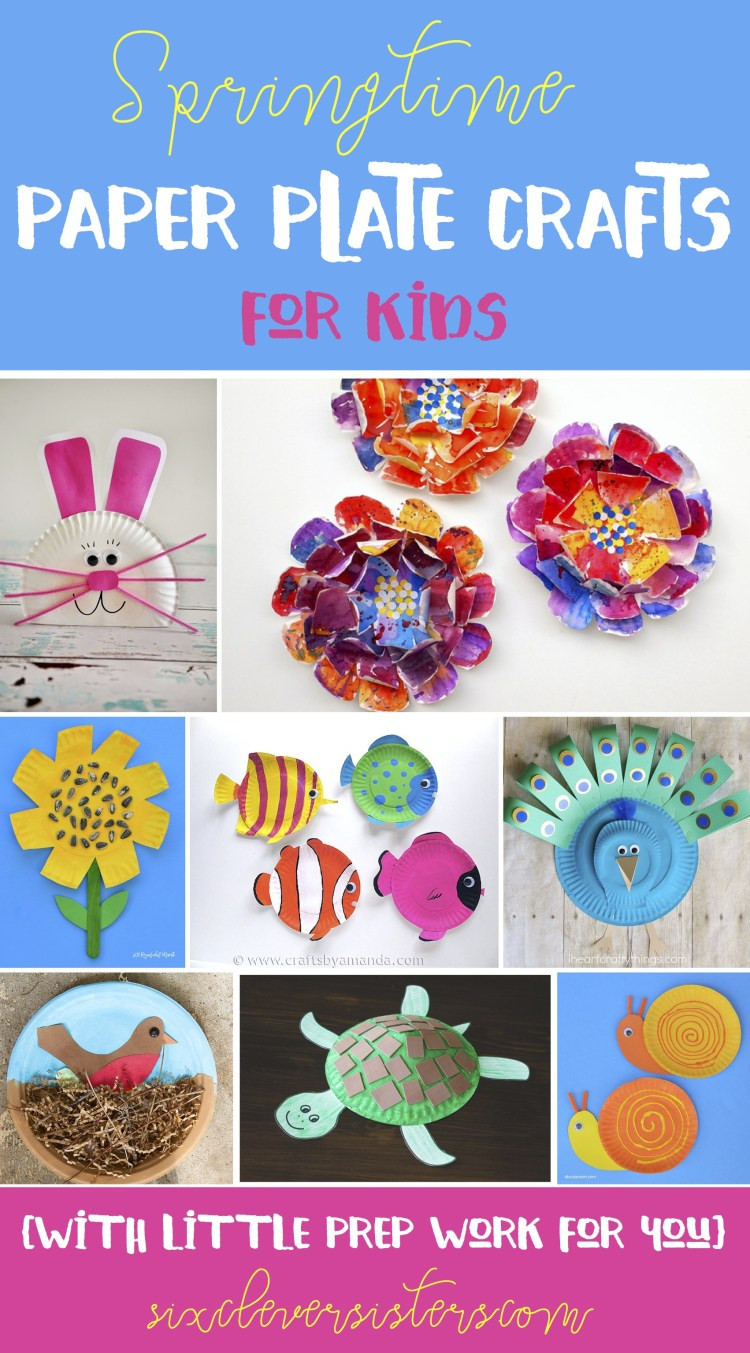 Best ideas about Crafts For Little Kids . Save or Pin Spring Time Paper Plate Crafts for Kids with little prep Now.
