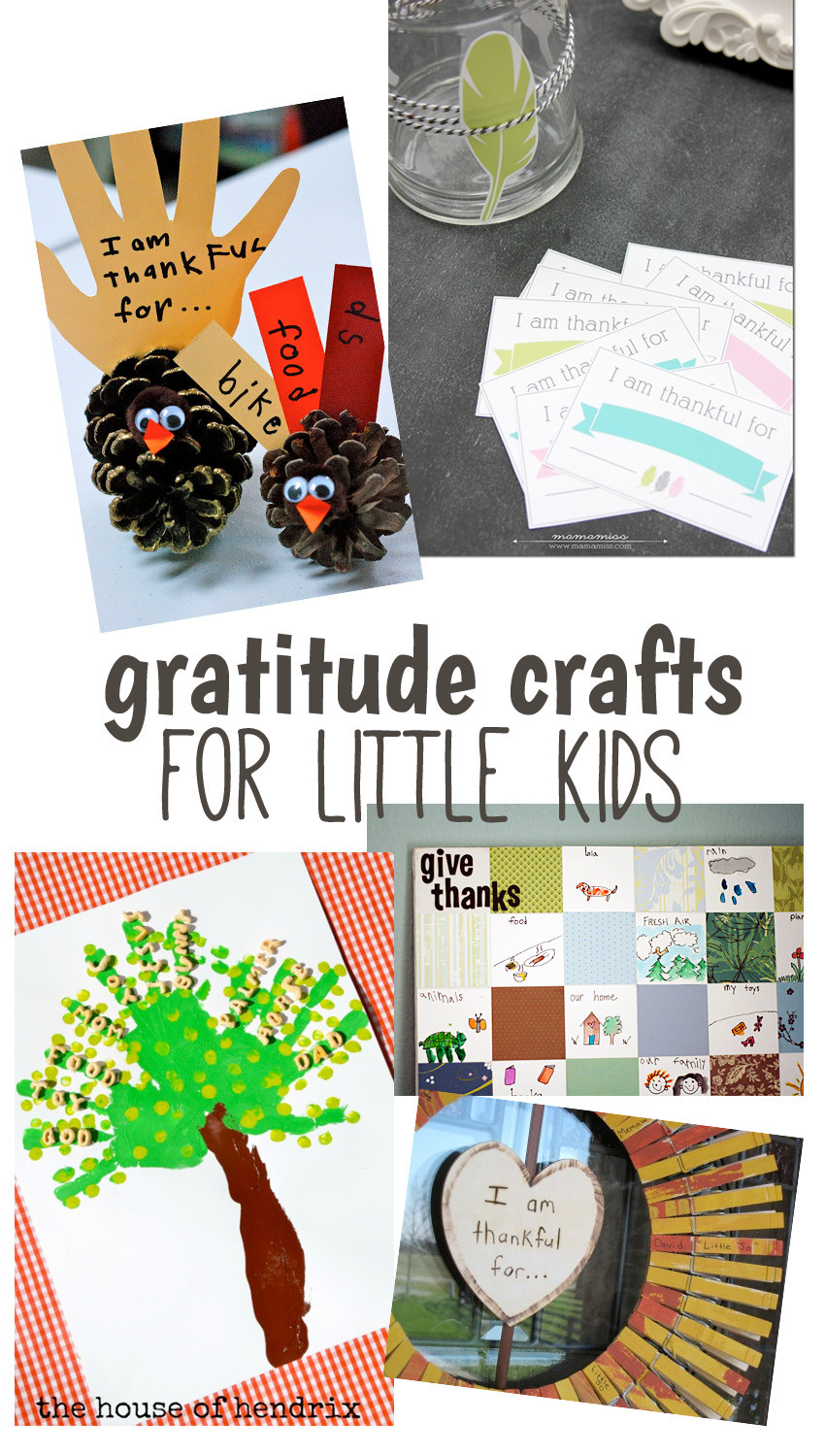 Best ideas about Crafts For Little Kids . Save or Pin 10 Creative Gratitude Crafts for Big and Little Kids Now.