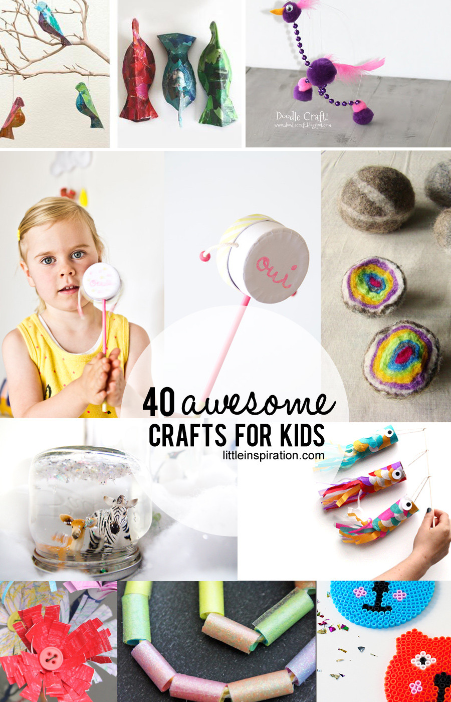 Best ideas about Crafts For Little Kids . Save or Pin 40 Awesome Crafts for Kids Little Inspiration Now.